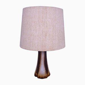 Lámpara de mesa danesa moderna de cerámica, años 60