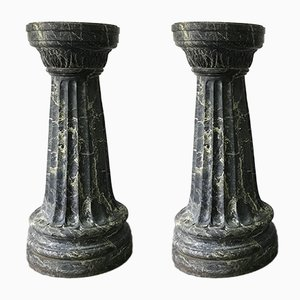 Antique Italian Marble Columns, Set of 2