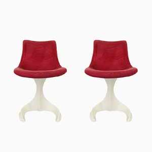 Space Age Plastic Chairs from Felpam, 1960s, Set of 2