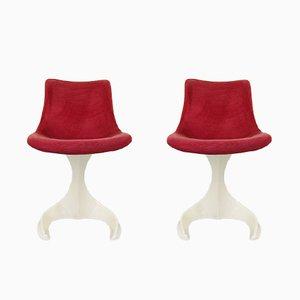 Space Age Sessel aus Kunststoff von Felpam, 1960er, 2er Set