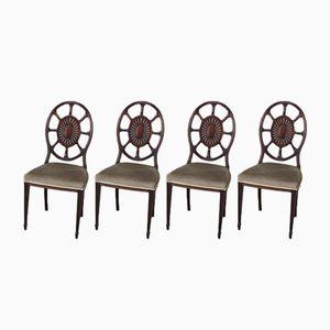 Edwardianische Esszimmerstühle, 4er Set
