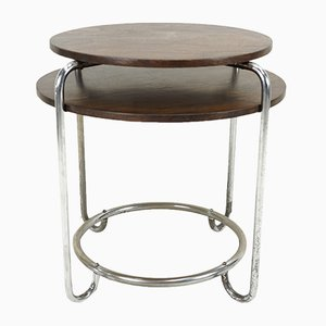 Two Tiered Round Side Table, 1930s