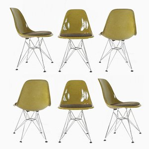 Vintage Side Chairs by Charles & Ray Eames for Herman Miller, Set of 6