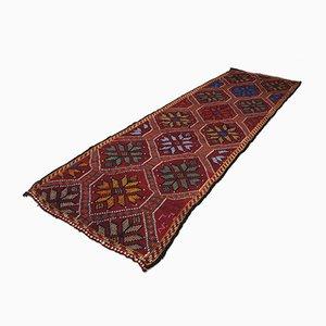 Vintage Turkish Tribal Runner Carpet