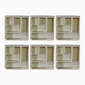 Unità di mensole cubiche vintage in plastica, set di 6
