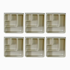 Vintage Plastic Cube Shelving, Set of 6