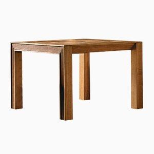 Tavolo quadrato allungabile in legno di noce oliato con ripiano impiallacciato di DALE Italia