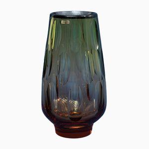 Vaso in vetro di Erich Jachmann per WMF, anni '60