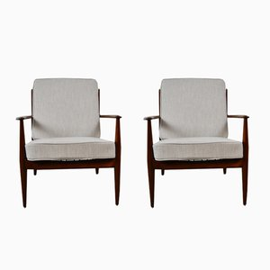 Dutch Armchairs by Grete Jalk for France & Daverkosen, 1960s, Set of 2