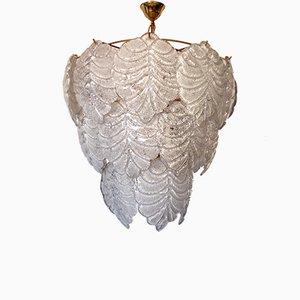 Lampadario in vetro di Murano di Mazzega, anni '60