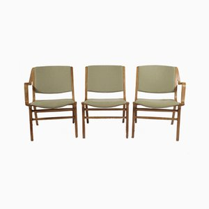 Ax Armchairs by Peter Hvidt & Orla Molgaard for Fritz Hansen, 1960s, Set of 3