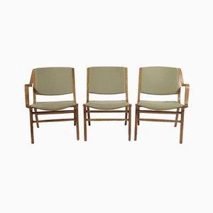 Ax Armlehnstühle von Peter Hvidt & Orla Molgaard für Fritz Hansen, 1960er, 3er Set
