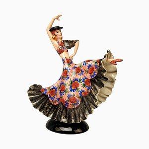 Spanische Tänzerin Modell 1400 von Stefan Dakon für Keramos Wien, 1950er