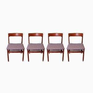 Mid-Century Danish Teak Dining Chairs by Niels Otto Møller for J. L. Møllers, Set of 4