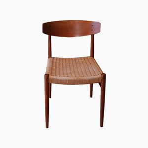 Vintage Model 501 Paper Cord and Teak Dining Chair from A. M. Mobler
