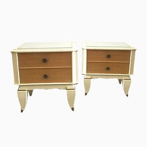 French Nightstands, 1940s, Set of 2