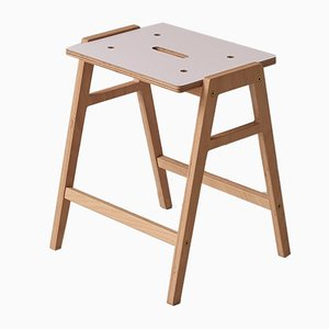 Small KW3 Stool in Rose by King & Webbon