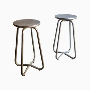 Industrielle Vintage Hocker aus Metall, 2er Set