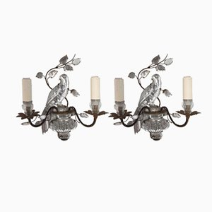 Vintage Papagei Wandlampen von Maison Baguès, 2er Set