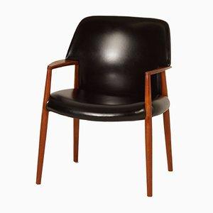 Dänischer Sessel von Ejnar Larsen und Aksel Bender Madsen für Fritz Hansen, 1950er