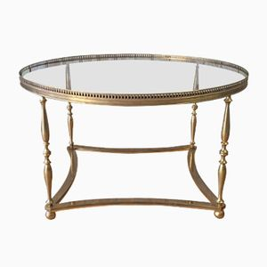 French Brass Coffee Table, 1960s