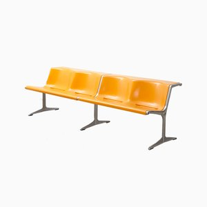 Fiber Double Bench by Friso Kramer for Wilkhahn, 1967