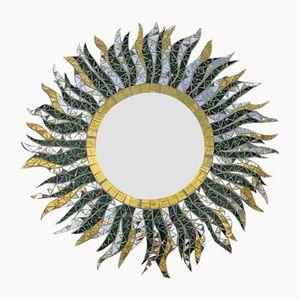 Handgefertigter O sole mio Mosaikspiegel von Luisa Degli Specchi