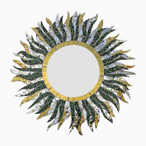 Miroir O sole mio Fait Main en Mosaïque de Luisa Degli Specchi