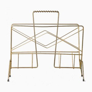 French Metal Magazine Rack, 1960s
