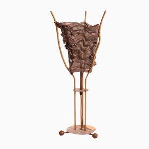 Lámpara de mesa de metal de Rob Eckhardt, años 80