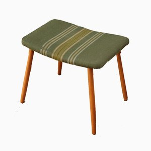 Vintage Danish Striped Footstool