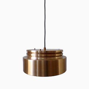 Lampe à Suspension Mid-Century en Cuivre, Danemark, 1960s