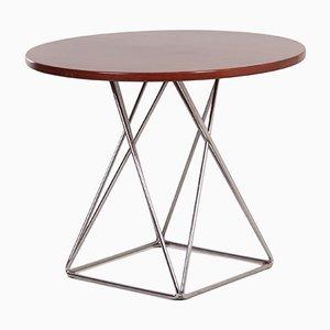 Tavolo da pranzo rotondo con base Eiffel di Thonet, anni '70