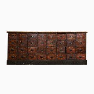 Industrieller Vintage Apothekerschrank mit 32 Schubladen