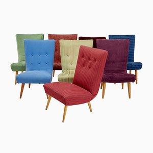 Moderne skandinavische Sessel, 1970er, 8er Set