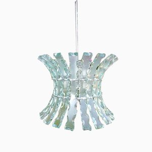 Chiselled Glass Chandelier by Zeroquattro for Fontana Arte, 1960s