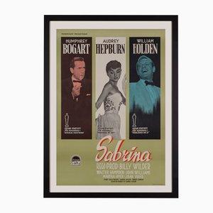 Affiche de Film Sabrina Mid-Century, Suède, 1955