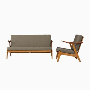 Mid-Century Danish Living Room Set in Teak & Oak by H. Brockmann Pedersen for Komfort