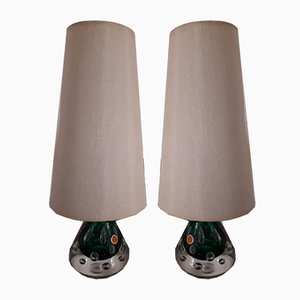 Bullicante Murano Table Lights by Pietro Toso, 1950s, Set of 2