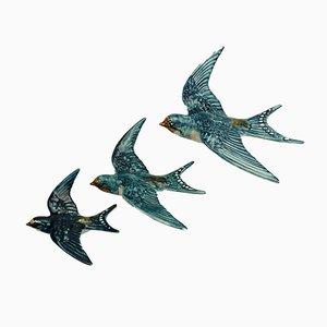 Fliegende Vintage Schwalben von Beswick Pottery, 3er Set