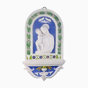Antike Madonna & Jesuskind Relief von Cantagalli
