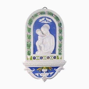 Rond de Bosse Antique Marie & Jésus Enfant de Cantagalli