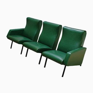 Miami Lounge Chairs by Pierre Guariche for Meurop, 1950s, Set of 3