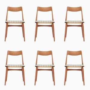 Dänische Mid-Century Boomerang #370 Chairs von Erik Christensen für Slagelse Møbelvaerk, 1950er, 6er Set