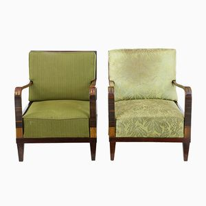 Birch Lounge Chairs, 1920s, Set of 2