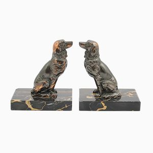 Vintage Dog Bookends, 1930s, Set of 2