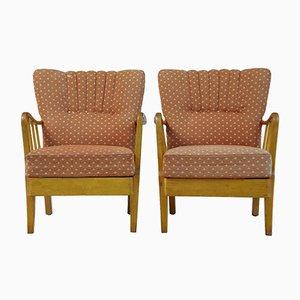 Armlehnstühle aus Birke, 1950er, 2er Set