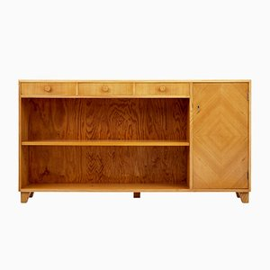 Scandinavian Open Elm Bookcase, 1950s