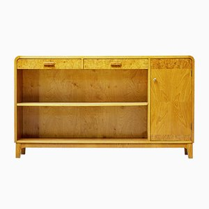 Scandinavian Elm Low Bookcase, 1950s