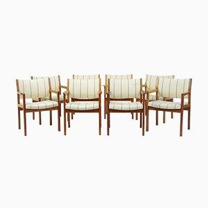 Vintage Armlehnstühle aus Teak von Søborg Møbelfabrik, 8er Set